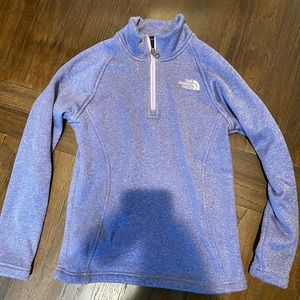 North Face - quarter zip cozy pullover sweatshirt